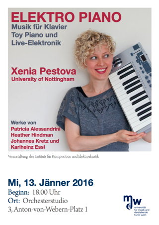 Soöo recital Xenia Pestova - 13 Jan 2016 @MDW