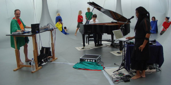 Karlheinz Essl performing live on his instrument m@ze°2