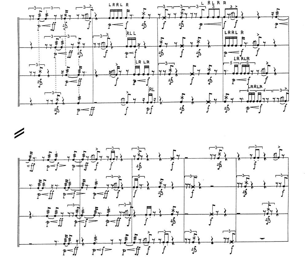 Rudiments: page 7 of the score